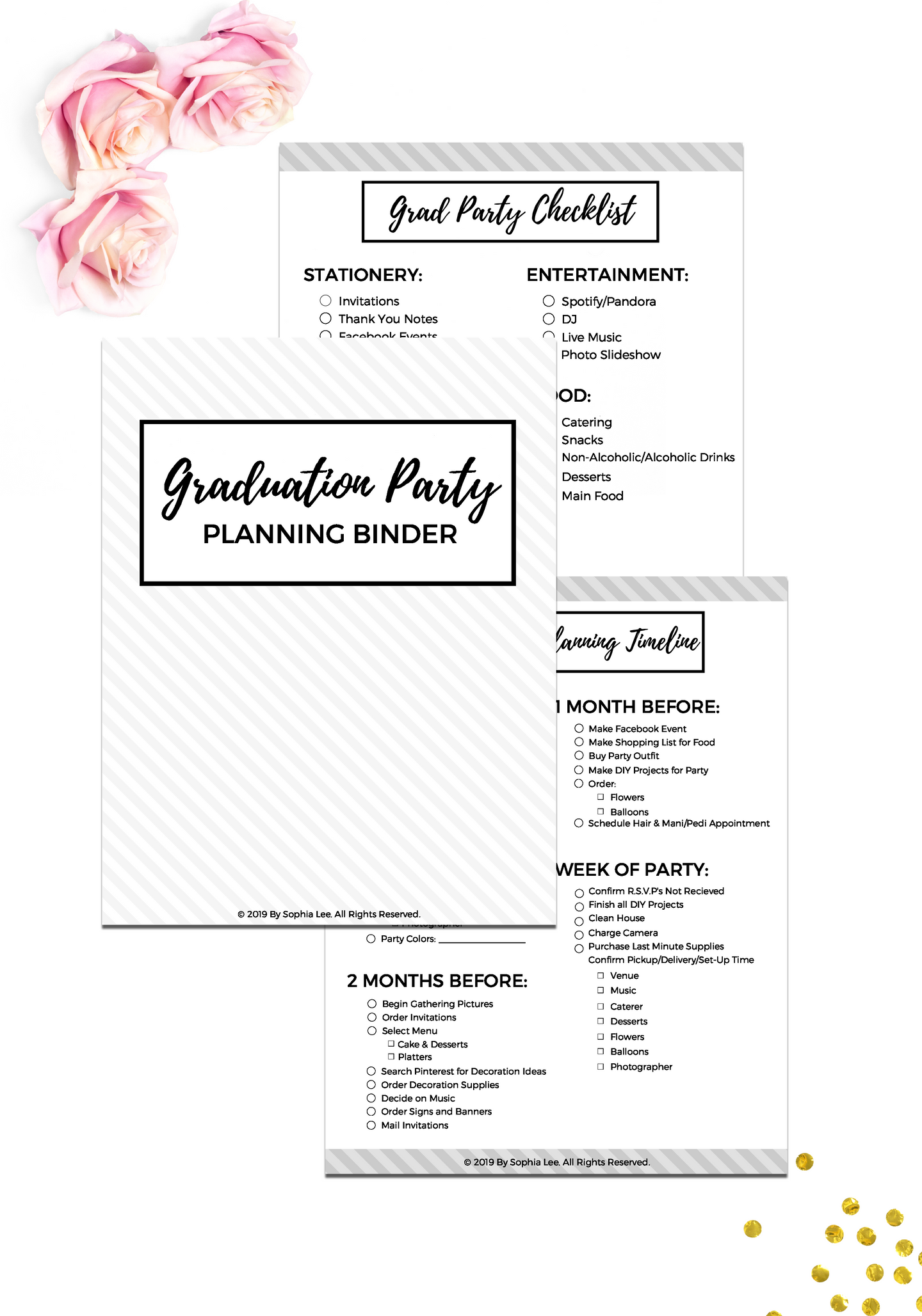 Free Graduation Party Planning Binder {10 Pages}