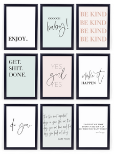 FREE Gallery Wall Art Printables Set {14 Pages}