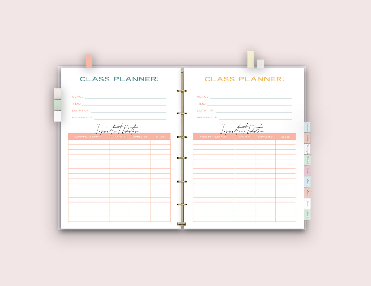 SPECIAL PRICE - College Organization Binder {58 Pages}