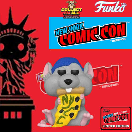 NYCC – Pizza Rat (blue hat) Fall Convention 2020 NYCC STICKERED EXCLUSIVE (2000pcs) Pop! Vinyl [IMPORTED]