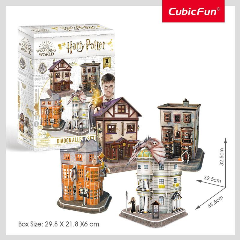 Harry Potter Wizarding World Diagon Alley Set 3D Puzzle