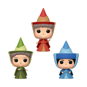 Sleeping Beauty - Fauna, Flora & Merryweather Fairies ECCC 2020 Exclusive Pop! Vinyl 3-pack [RS]