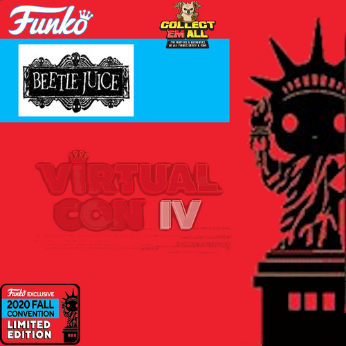 Beetlejuice – Beetlejuice w/ Handbook NYCC 2020 US Exclusive Pop! Vinyl [RS]