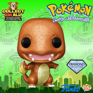 Pokemon - Charmander (Diamond) ECCC 2021 Shared Exclusive Pop! Vinyl