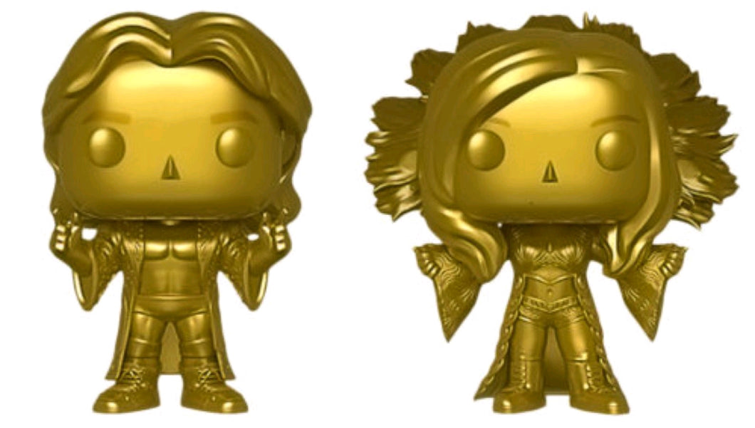 WWE - Ric and Charlotte Flair Gold US Exclusive Pop! Vinyl 2-pack [RS]