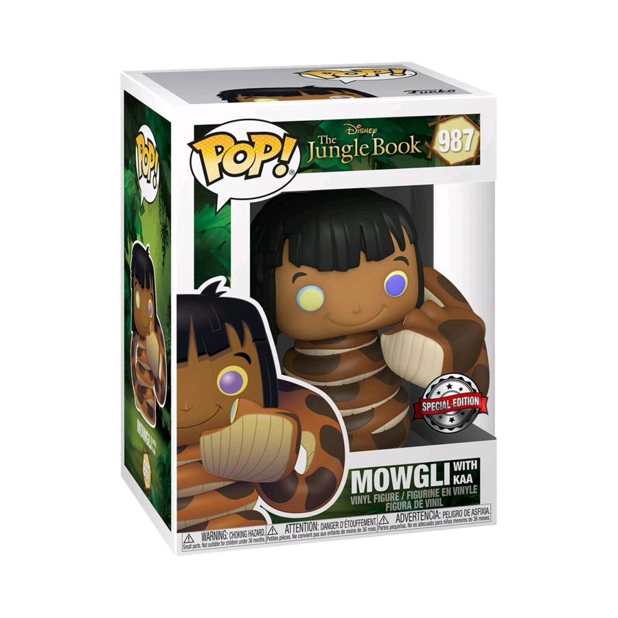 Jungle Book - Mowgli with Kaa US Exclusive Pop! Vinyl [RS]