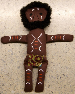 Aboriginal Warrior Doll