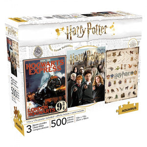 Harry Potter Three Puzzle Set 500pc Jigsaw Puzzles