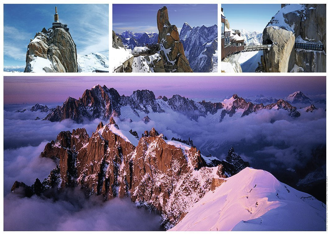 VIEWS OF MONT BLANC - JIGSAW PUZZLE 1000 PIECE