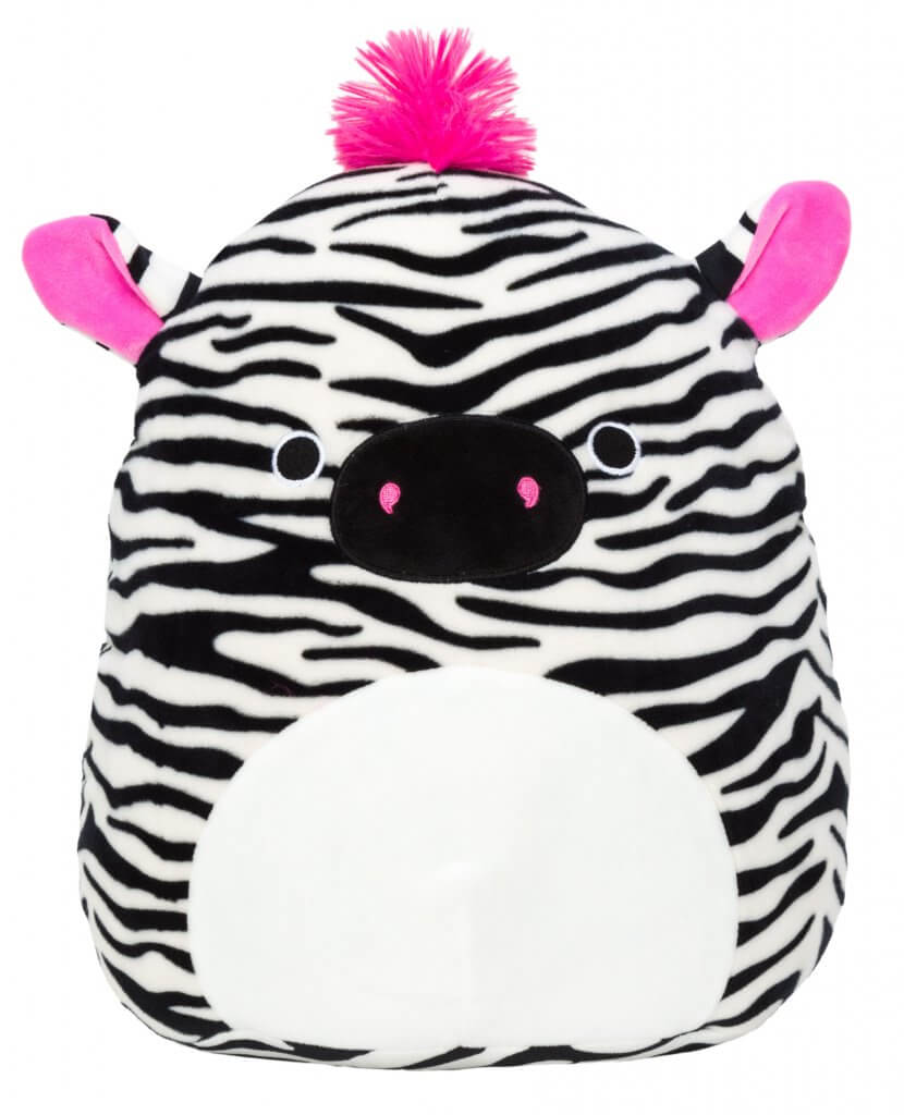 SQUISHMALLOWS - Tracey the Zebra with pink hair