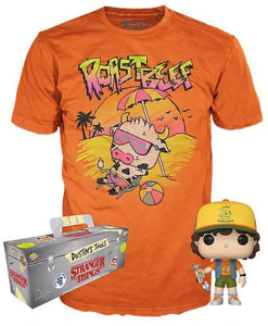 Stranger Things Funko POP! TV Dustin Exclusive Vinyl Figure & T-Shirt [Roast Beef, X-Large]