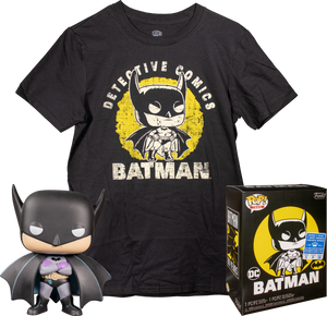 Batman - First Appearance Batman Pop! Vinyl Figure & T-Shirt Box Set (Walmart)