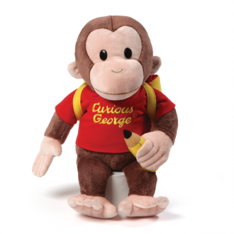 CURIOUS GEORGE WITH BACKPACK
