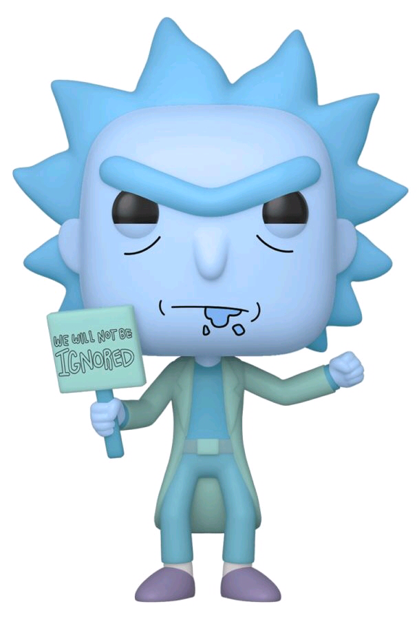 Rick and Morty - Hologram Rick (Ignored) US Exclusive Pop! Vinyl [RS]