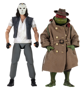 "TEENAGE MUTANT NINJA TURTLES (1990) - CASEY JONES & RAPHAEL 7"" ACTION FIGURE 2-PACK"