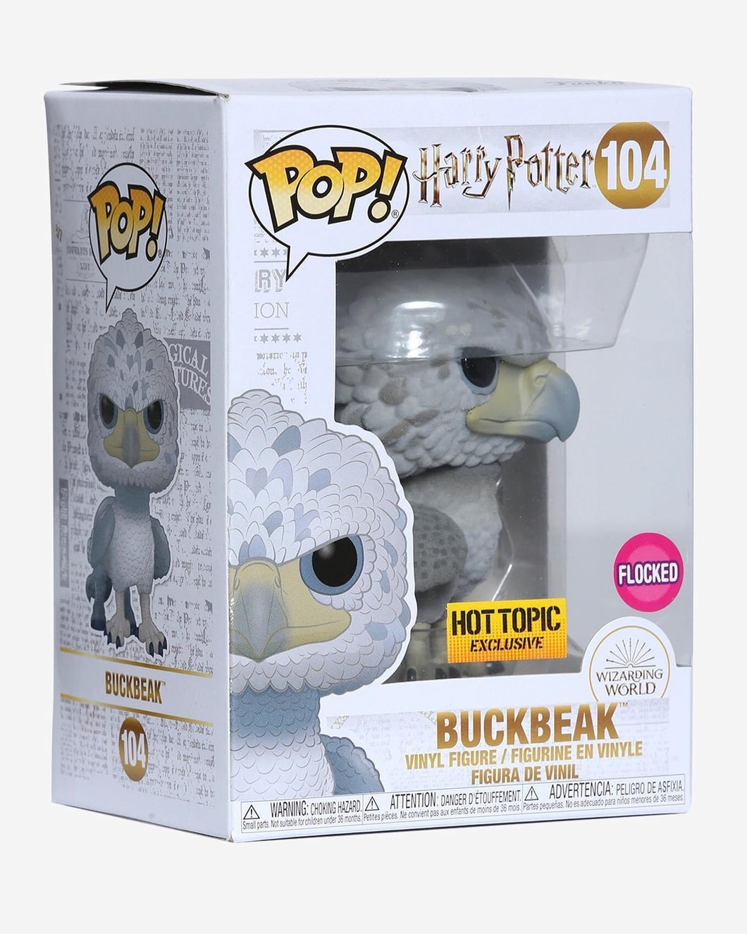 Hot Topic exclusive Flocked Buckbeak (black eyes)!