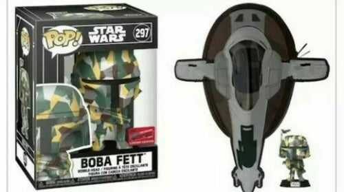 Boba Fett Pop & Slave One Sling Bag Bundle NYCC 2020 Funko Exclusive 1000 piece [IMPORTED]