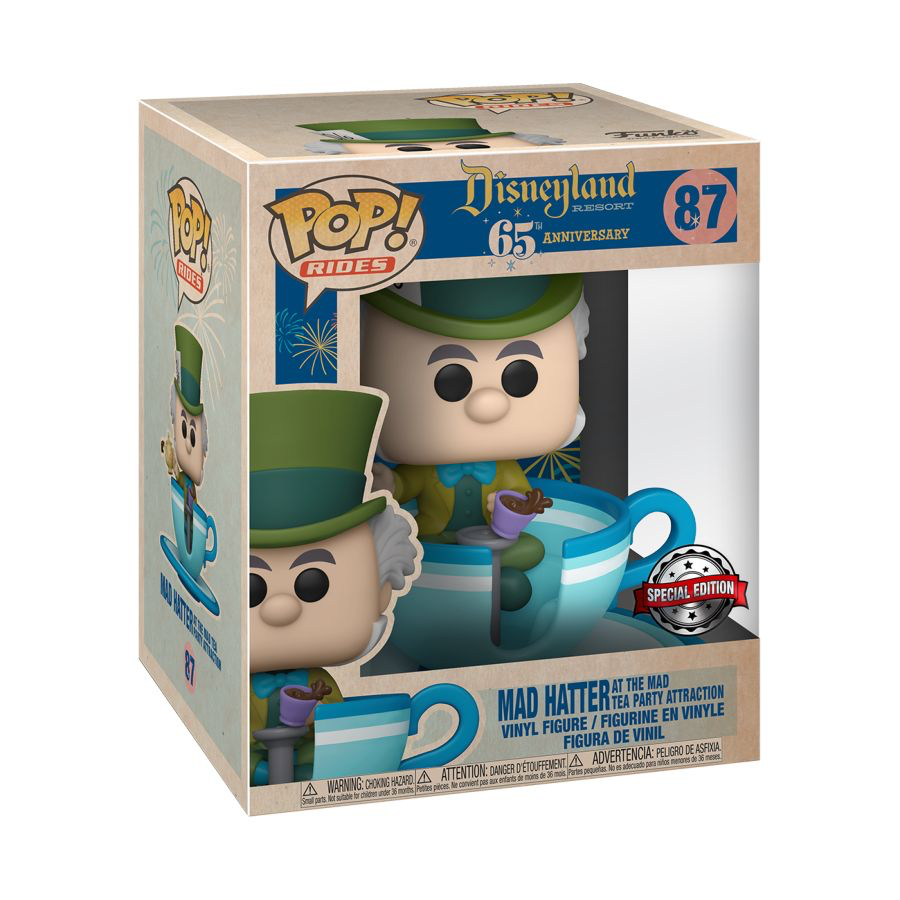Disneyland 65th Anniversary - Mad Hatter Teacup US Exclusive Pop! Ride [RS]