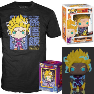 Dragon Ball Z - SS 2 Gohan Glow in The Dark Pop/Tee GameStop Exclusive