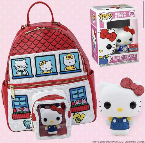 NYCC 2020 Loungefly Hello Kitty Mini Backpack Funko Pop Bundle LE1000
