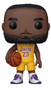 "NBA: Lakers - LeBron James Yellow Jersey US Exclusive 10"" Pop! Vinyl [RS]"