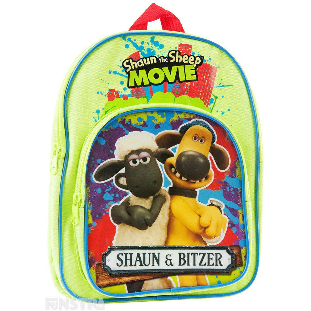 Shaun the Sheep Backpack Kids Girls Boys School Book Bag Luggage Toy Bitzer
