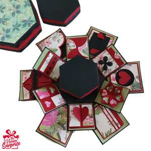 Creative Handmade Multi-Layered Explosion Box Hexagon