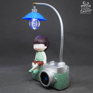 Little Boy Camera Table Lamp