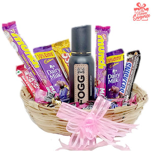 Special Fogg Perfume Chocolate Basket Gift Hamper