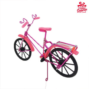 Cute Pink & Red Bicycle