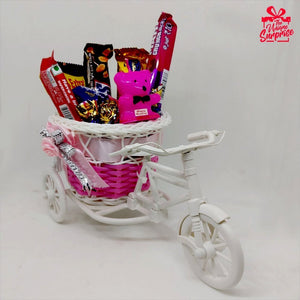 Creative Cycle Chocolate Basket Best Gift for Her
