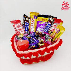 Beautiful Heart Shape Chocolate Basket