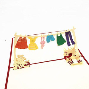 Hanging Clothes Pop Up Card