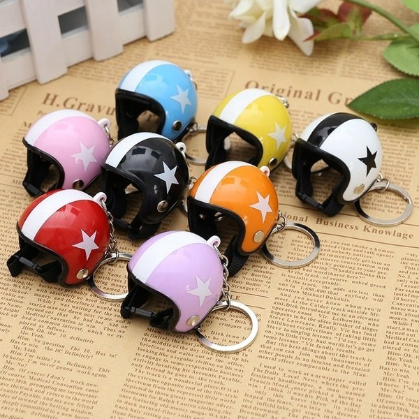 Creative Motorcycle Safety Helmets Star Keychain