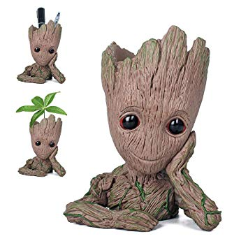 Unique Groot Flower Pot with Pen Holder