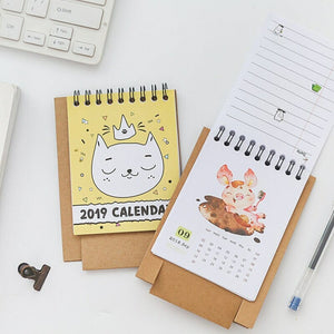 Cartoon Series Mini Table Desk Calendar Office Stationery