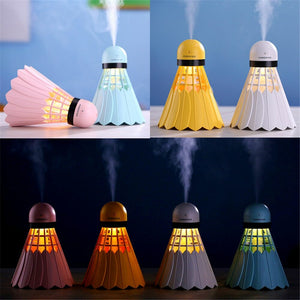 Shuttle Cock Humidifier with Night Light