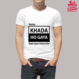 Khada Ho Gaya - Trending T Shirt - Being Bachelors