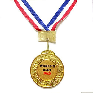 Worlds Best Dad Medal Fathers Day Gift