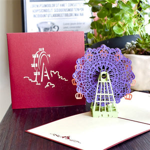 Giant Wheel Pop Up Card
