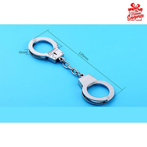 Creative Police Handcuffs Key Chain