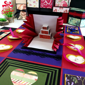 Creative Handmade Explosion Greeting Card Twist & Turn Multi-Folding