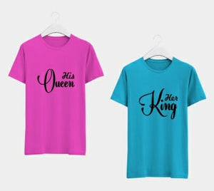 King & Queen Couple T-Shirts 2pcs