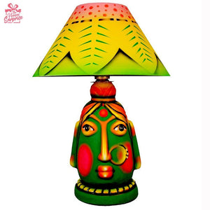 Mundu Mala Goddess Terracotta Lamp