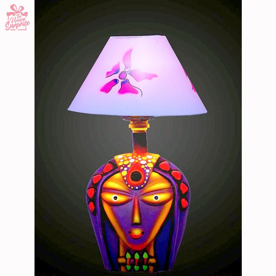 Divine Durga Face Table Lamp