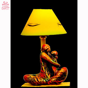 Storyteller Mother Terracotta Table Lamp