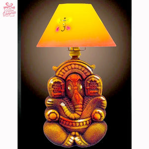 Antique Brown Ganesha Terracotta Lamp