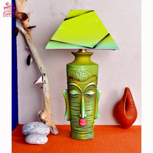 Green Shiva Terracotta Lamp
