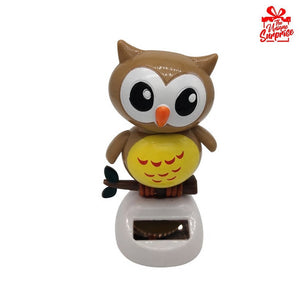 Solar Power Head Shaking Owl