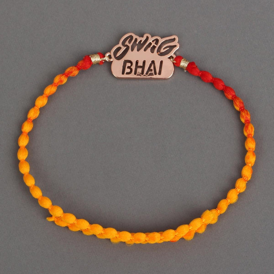 SWAG BHAI - GOLD Metal Rakhi